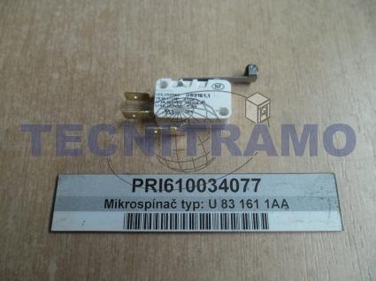 Microswitch type: U 83161 1AA